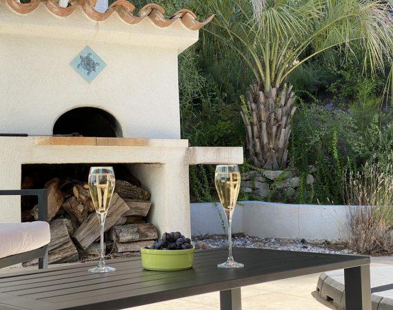Villa avec four à pizza à Carry le Rouet